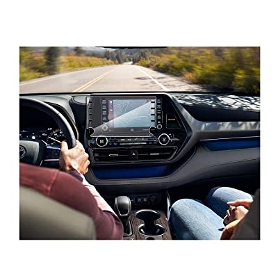 SATIS Premium Screen Protector Compatible with 2020 Toyota Highlander 8 Inch Touch Screen Anti Glare Scratch Fingerprint Navigation Protection Tempered Glass: GPS & Navigation