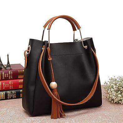070fbcf4ec Womens Hobo Tote Bag Set Durable PU Leather Messenger Bag Shoulder Handbag  Crossbody Bags for Ladies
