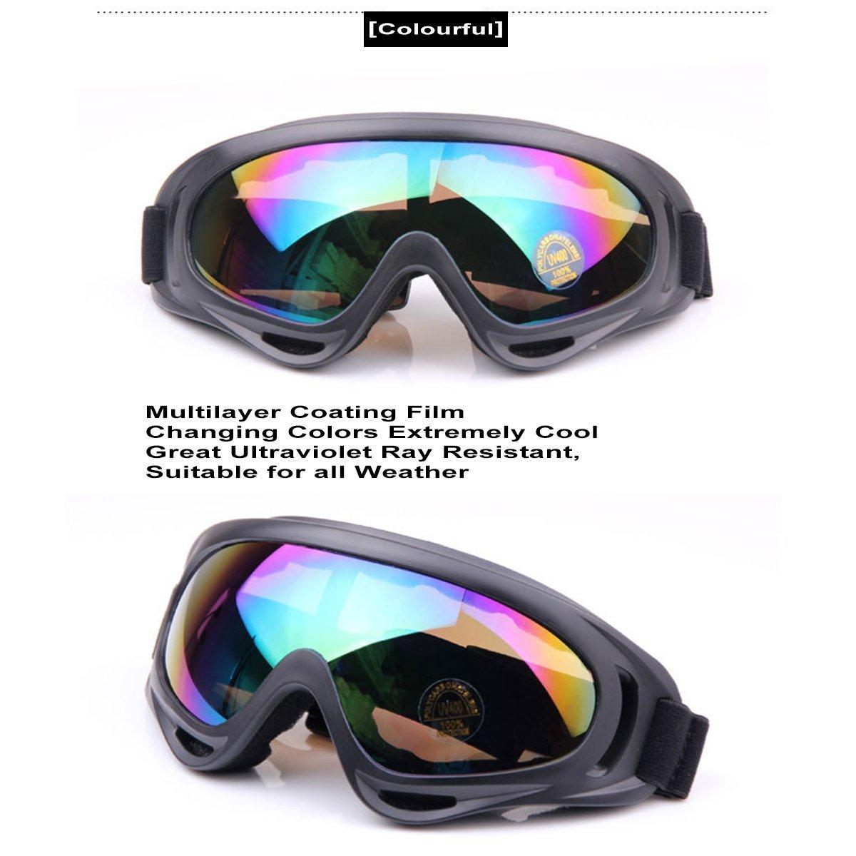 TININNA vetri protettivi Occhiali di sicurezza Sci Occhiali All'aperto Sport Antipolvere Occhiali da sole Bicicletta Moto Ciclismo Occhiali Colorful aURLAqR