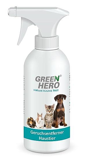 Green Hero Geruchsentferner Haustier Spray für Katze, Hund und Nager ...