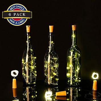 Good Wine Bottle Lights 6.5FT 20 LED Cork Top Fairy Lights Light Bottle Corks  Copper Wire