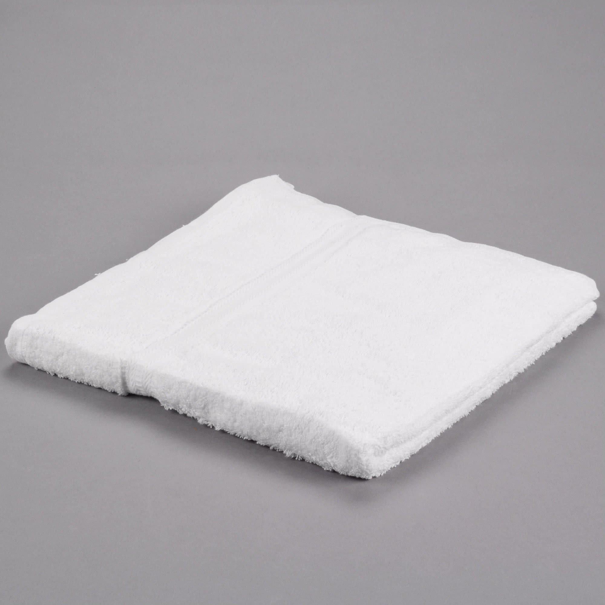 TableTop King 27'' x 54'' 100% Ring Spun Cotton Hotel Bath Towel 17 lb. - 12/Pack