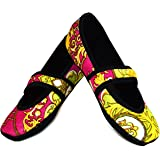 Nufoot Betsy Lou Women's Shoes, Best Foldable & Flexible Flats, Slipper Socks, Travel Slippers & Exercise Shoes, Dance Shoes, Yoga Socks, House Shoes, Indoor Slippers, Pink Baroque, Large