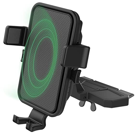 Amazon.com: Soporte de teléfono para CD para coche con carga ...