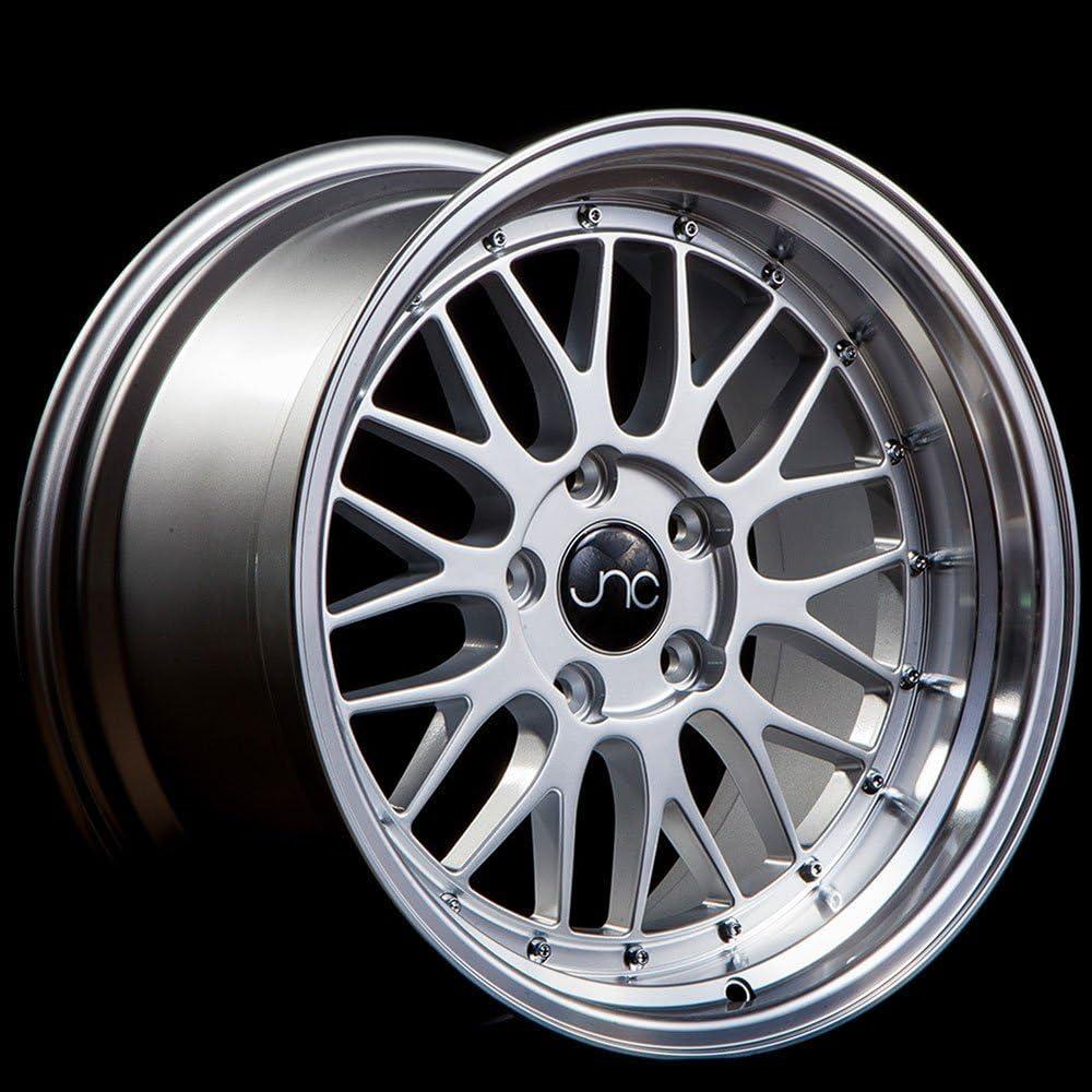 18x8.5 JNC 004S 5x100//5x114.3 30 Silver Machine Lip GR Wheels Rims Set 73.1 4