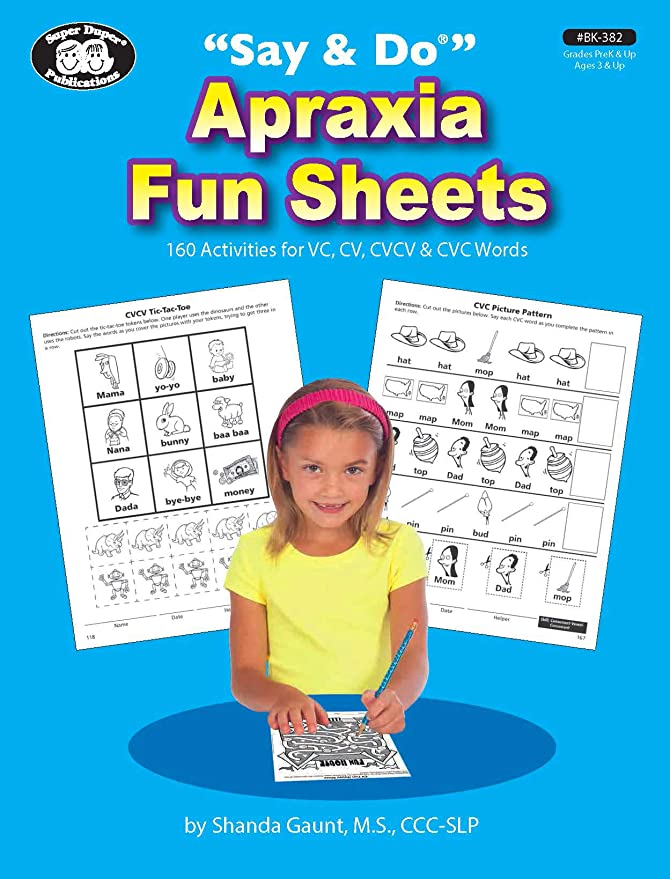 Vowels and Consonants Organized Words by Syllable for Ease of Speech Production Basic Syllable Shapes Activities with Instructions Super Duper Publications Webber Big Apraxia Photo Cards