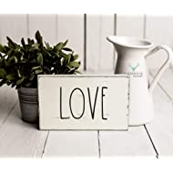 Rustic Love Sign | Rustic Wood Sign | Farmhouse Sign | Inspired Rae Dunn Sign | Rustic Home Decor | Farmhouse Home Decor | French Farmhouse Decor | Shabby Chic Decor | Primitive Decor