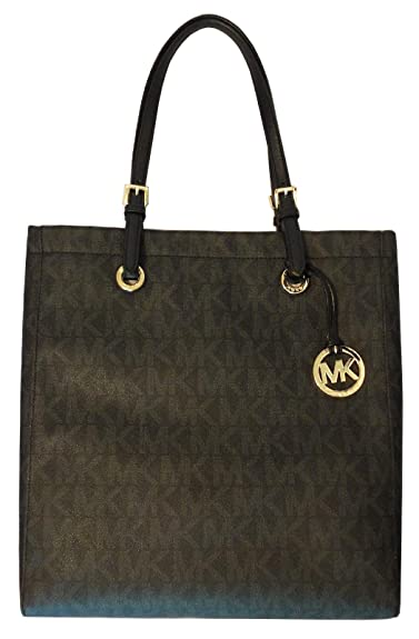 68da27987735 Amazon.com: Michael Kors Signature Jet Set Item North South Tote in Black  PVC: Shoes