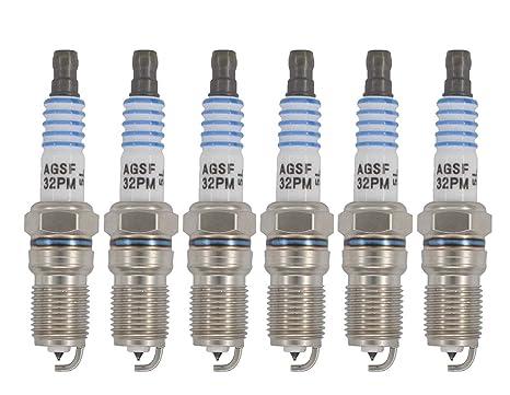 Set de 6 Platinum Bujía pastillas de sp493 agsf32pm Ford 4.6L 5.4L V8 parte