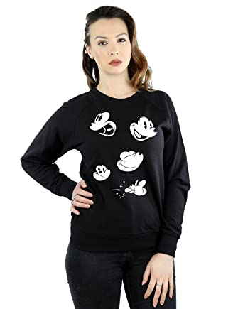 Disney mujer Mickey Mouse Faces Camisa de entrenamiento: Amazon.es: Ropa y accesorios