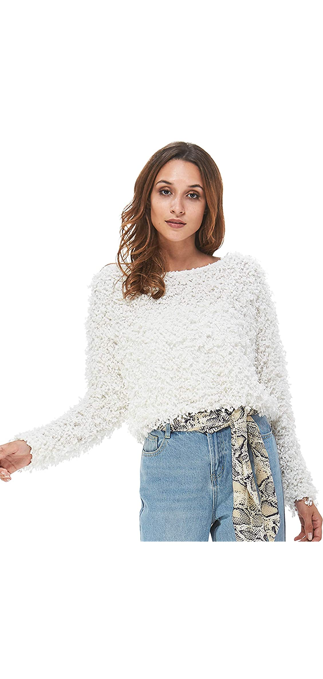 Women's Pullover Boat Neck Jacquard Sweaters For And