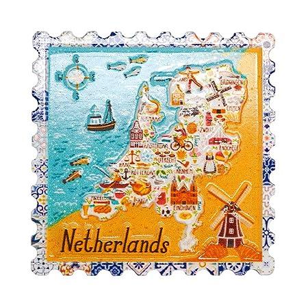 Holanda Países Bajos 3D Imanes para Refrigerador Imán de Nevera ...