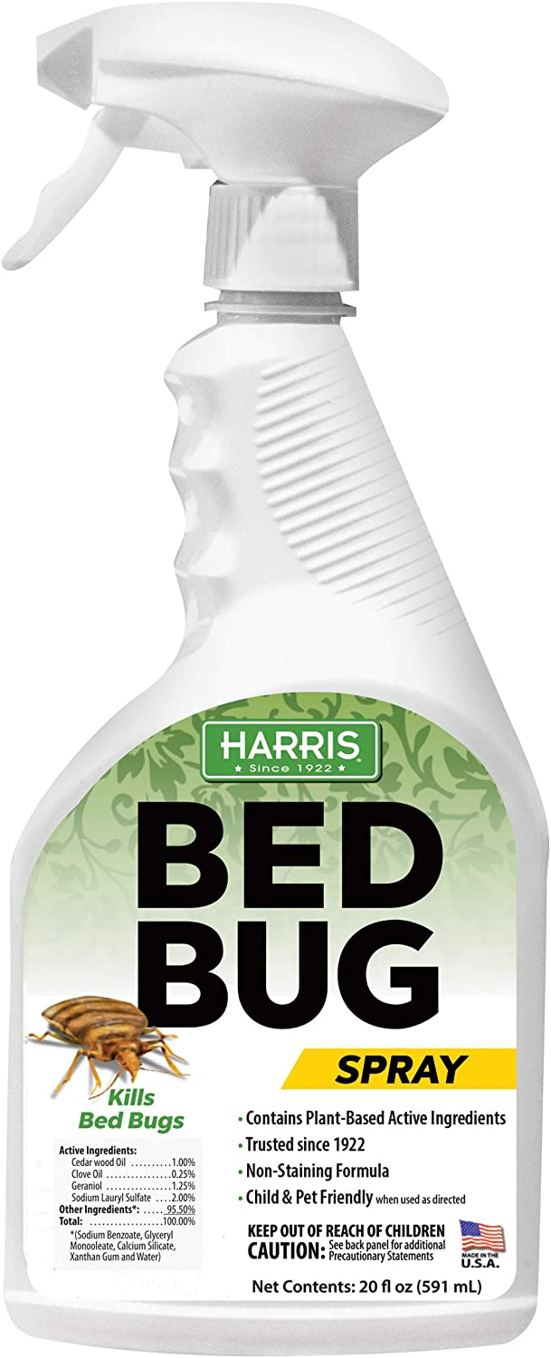 HARRIS Green Label Bed Bug Killer, Fast Acting 20oz Non-Toxic Spray with Extended Residual