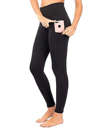 8986fdb105c673 DEAR SPARKLE Leggings with 3 Pockets for Women High Waist Yoga Workout  Pants (S1)