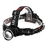 Best LED Headlamp,CrazyFire 1600 Lumens XML-T6 CREE Hunting LED Headlamp,Zoomable 3 Modes Runners Headlamp for Outdoor Reading,Hiking,Camping,Running,Jogging,Climbing,Fishing,Hunting(Black)