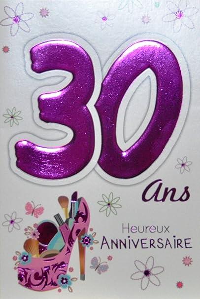 Age Mv 69 2029 Carte Anniversaire 30 Ans Femme Motif Belle Feminine Beaute Maquillage Chaussure Talon Aiguille Mode Amazon Fr Fournitures De Bureau