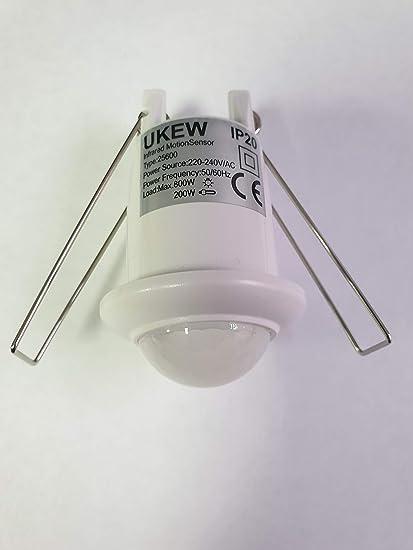 Interruptor de Sensor de Movimiento PIR de 360 Grados para Luces halógenas o LED