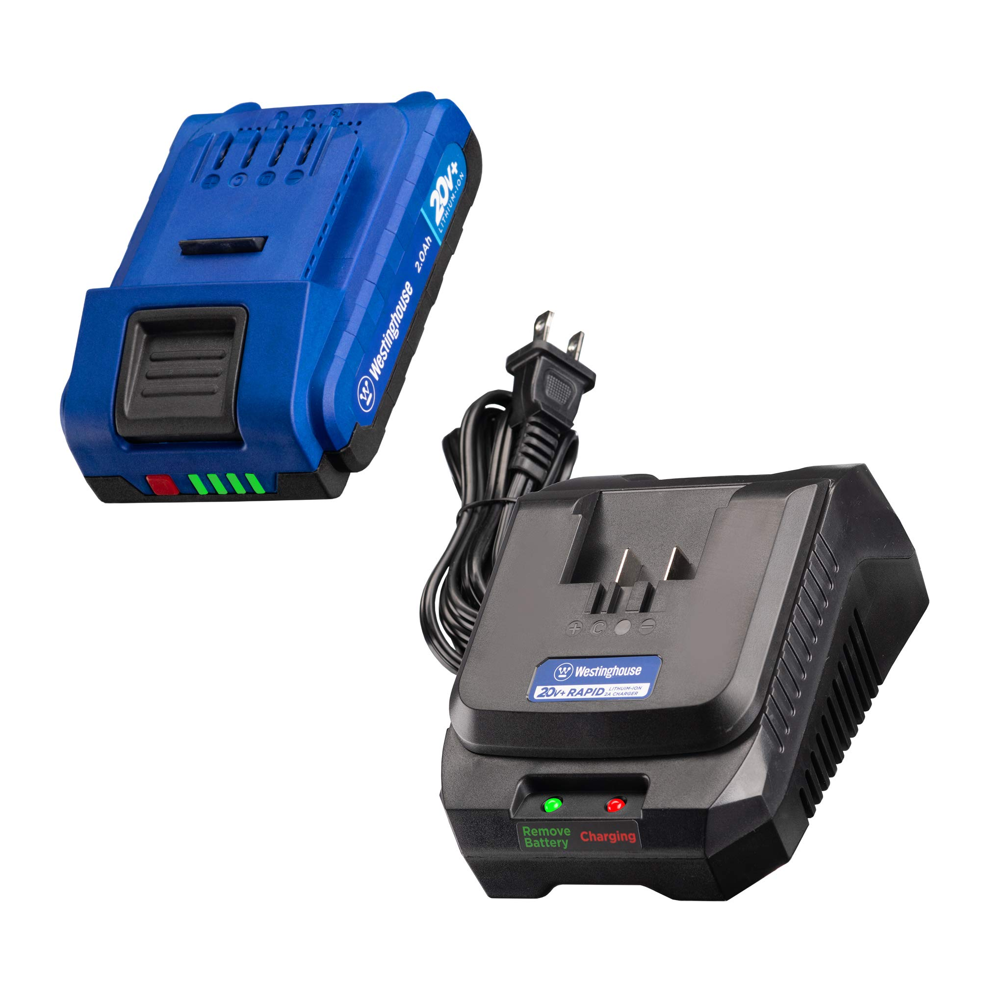 Westinghouse 20V 2.0 Ah Lithium-ion Battery and Rapid Charger for 20V+ Cordless Tools by Westinghouse
