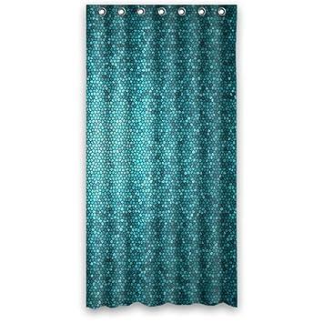 Stilvollen Mosaik Teals Blau Lagune Blau Badezimmer Wasserdicht Polyester  Duschvorhang Aus Stoff, 36