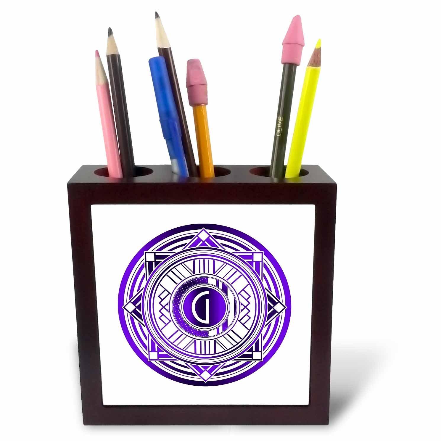 3dRose ph_241481_1 - Soporte para bolígrafo (tamaño pequeño, cm), 12,7 cm), pequeño, diseño de letra G, color morado ca7c01