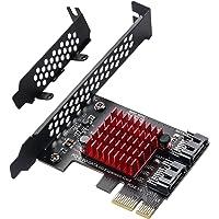 MZHOU 2 SATA-Uitbreidingskaart, PCI-E 3.0 GEN3 JMICRON + JMB582-chip, 6 Gbit/s-Uitbreidingsadapterkaarten met Low…