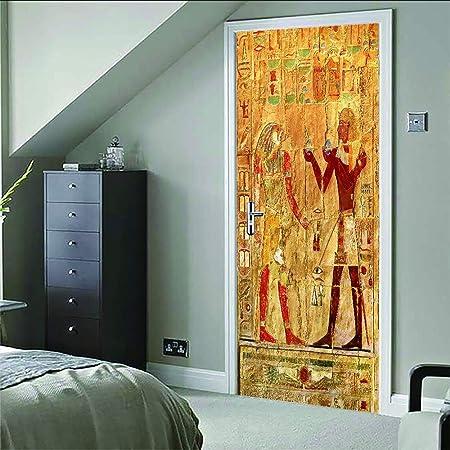3D Autocollant de porte Photo d\'art poster Egypte ancienne ...