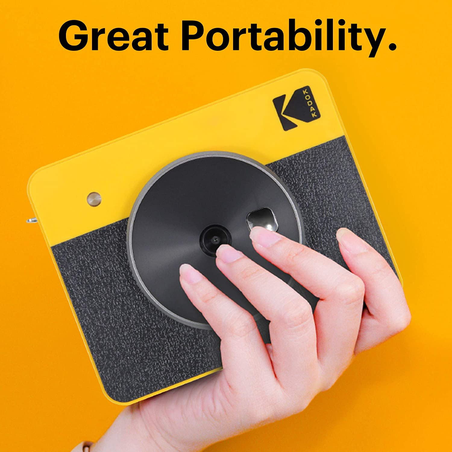 2-in-1 Printer Compatible with iOS /& Android 4PASS Technology -White Bluetooth Connection 3x3-inch Real Photo Printer Portable Instant Camera and Photo Printer Kodak Mini Shot 3 Retro Camera