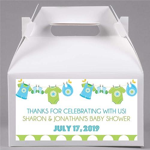 Amazon Boys Clothesline Baby Shower Favor Boxes Boys Blue