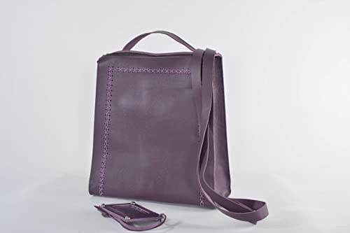 Handcrafted leather backpack shoulder bag crossbody bag tote