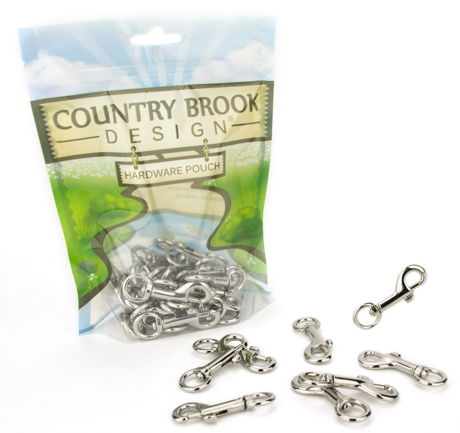 100 - Country Brook Design 3/8 Inch Baby Swivel Snap Hooks by Country Brook Design