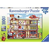 Ravensburger 10404 Firehouse Frenzy, 100 Piece Puzzle for Kids, Every Piece is Unique, Pieces Fit Together Perfectly…