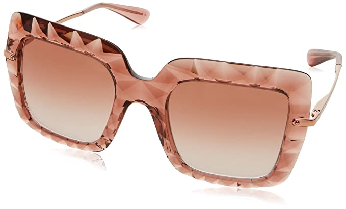 e9aa0d1e6340 Image Unavailable. Image not available for. Color: Dolce and Gabbana DG6111  314813 Pink DG6111 Square Sunglasses Lens ...