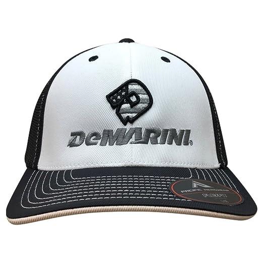 6cde76f73a179 99BATS DeMarini Stacked D Hybrid Flexfit Baseball Hat - Black White (LG-XL