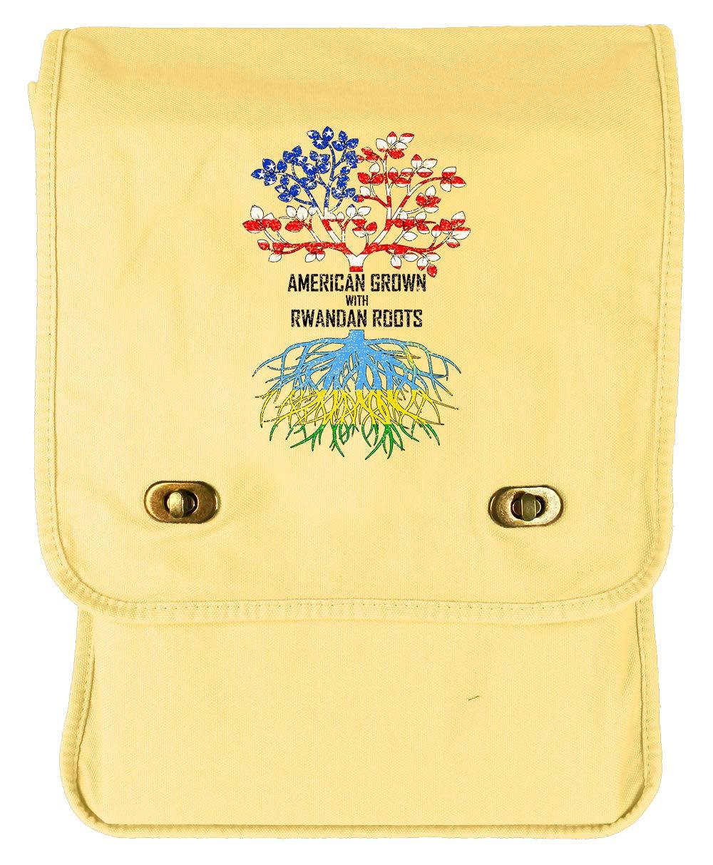 Tenacitee American Grown with Rwandan Roots Green Brushed Canvas Messenger Bag
