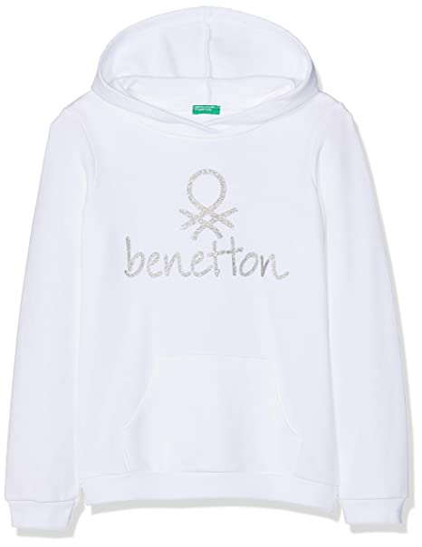 United Colors of Benetton Niñas Sweater W/Hood suéter Not Applicable, Blanco (Bianco