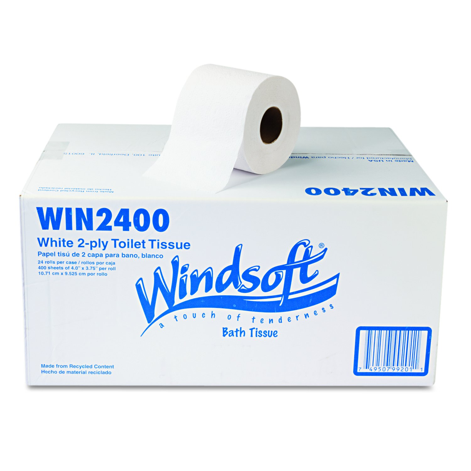 Amazon.com: Windsoft 2400 Single Roll Two Ply Premium Bath Tissue (Case of 24 Rolls) (2-(Case of 24 Rolls)): Kitchen & Dining