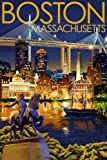 Boston, Massachusetts - Skyline at Night (12x18 Art Print, Wall Decor Travel Poster)