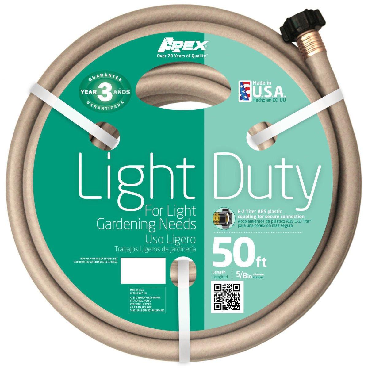 Green Thumb / Apex 8400-50 Light Duty 5/8'' X 50` Garden Hose W/ Ez Tite Coupling