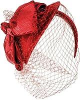 Fancy Wool Ribbon Bow Sequins Headband Fascinator Cocktail Hat