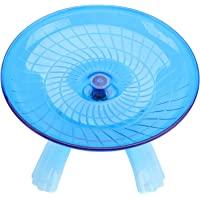 UEETEK Silent Spinner Hamster Wheel,Non Slip Plastic Run Disc for Hamsters Hedgehogs Small Pets Exercise Wheel,7.1 x 7.1…