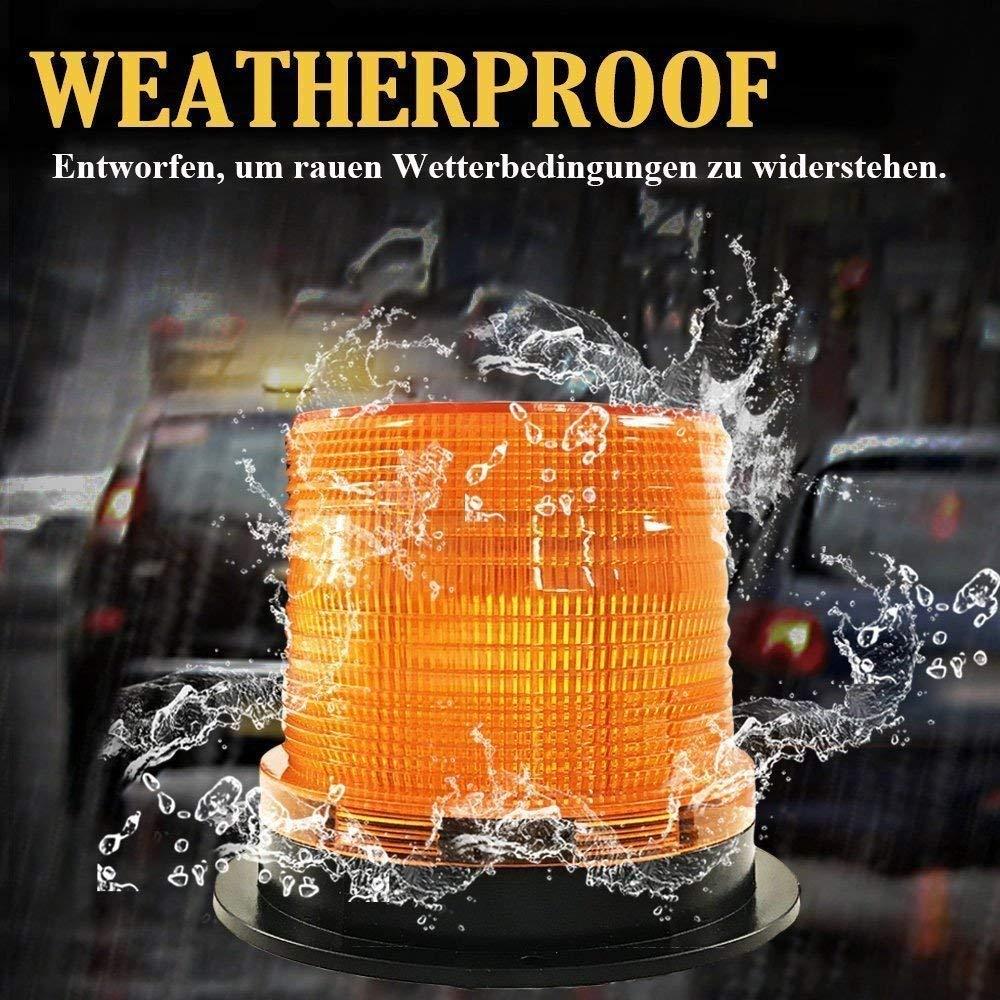 Eignet f/ür die Meisten Fahrzeuge Schnee Frost und Wind Wetter Warnleuchte led Rundumleuchte Orange EIS 48 Rundumleuchte Led Magnet