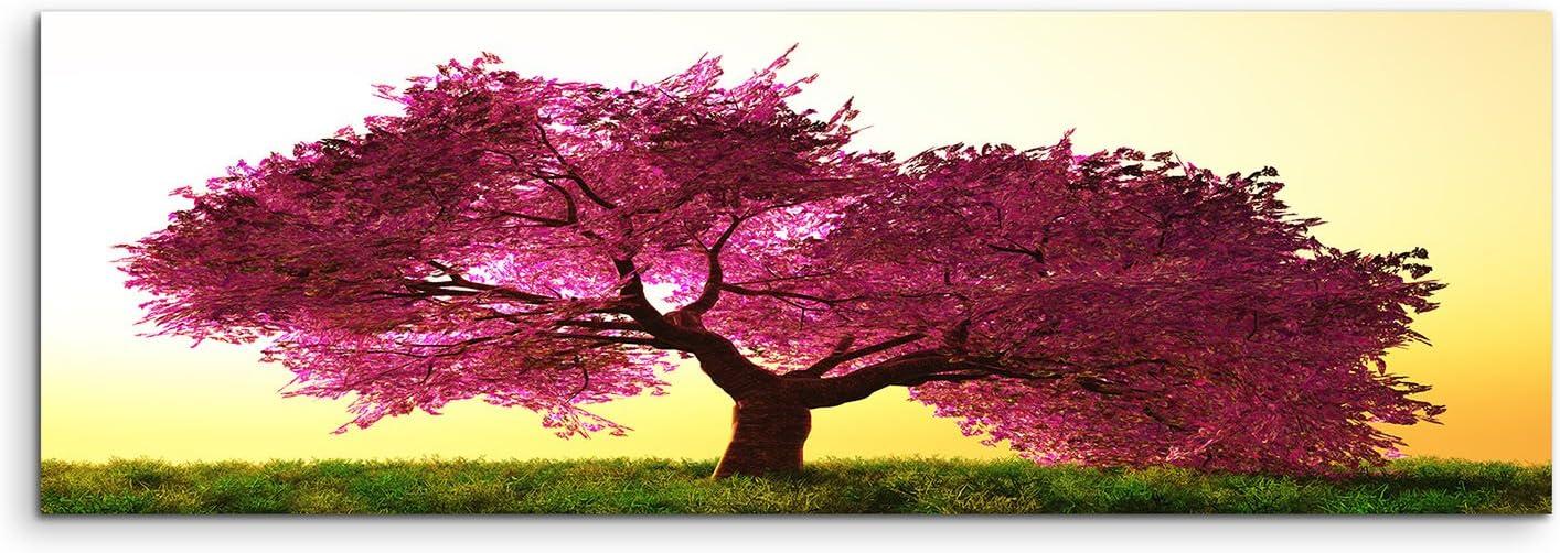 150/x 50/cm Toile sur ch/âssis le Japon Fleurs de Cerisier sur toile comme panoramique