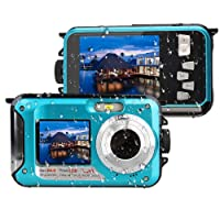 Unterwasserkamera 24.0MP Wasserdichte Digitalkamera Full HD 1080p Dual Screen Point Digitalkamera