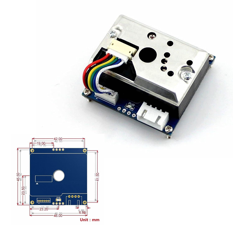 cqrobot Sharp GP2Y1010AU0 F Sensor de Polvo, detección de fina de partículas de más de 0,8 mm en diámetro, incluso el humo del tabaco, bajo consumo de ...