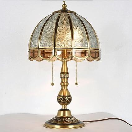 GAOLILI Lámpara de Mesa de Noche Europea del Dormitorio ...