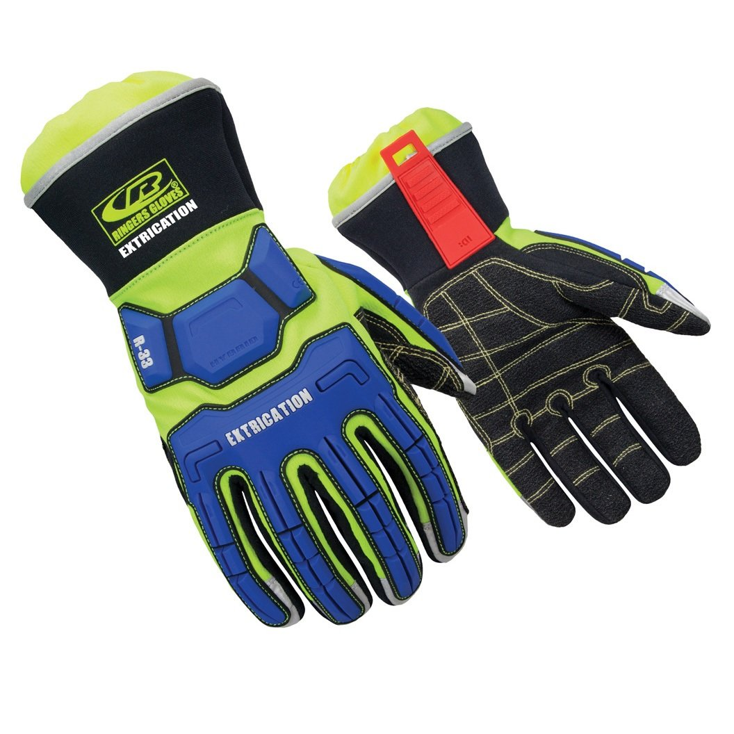 Ringers Gloves R-33 Extrication Gloves, Cut-Resistant Gloves with KevLoc Grip, XXX-Large by Ringers (Image #1)