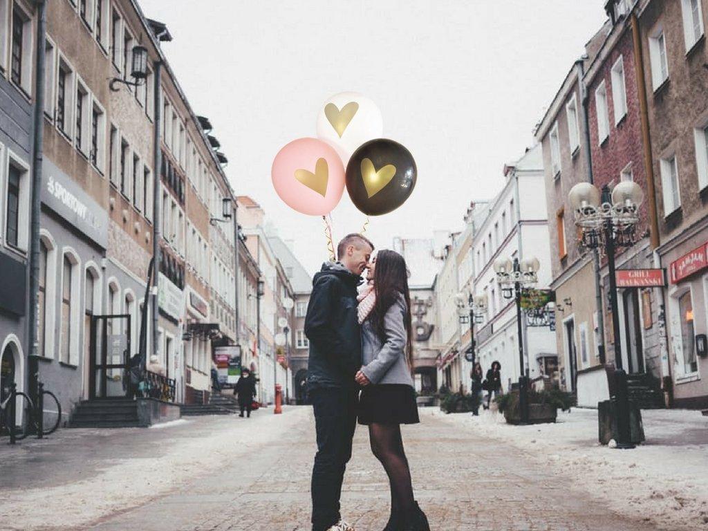 No Ribbon Pink Gold Heart Balloons Love 12 Latex Wedding Decoration Kit Proposal Vow Renewal Valentines Bridal Shower Party Bachelorette Celebration Anniversary
