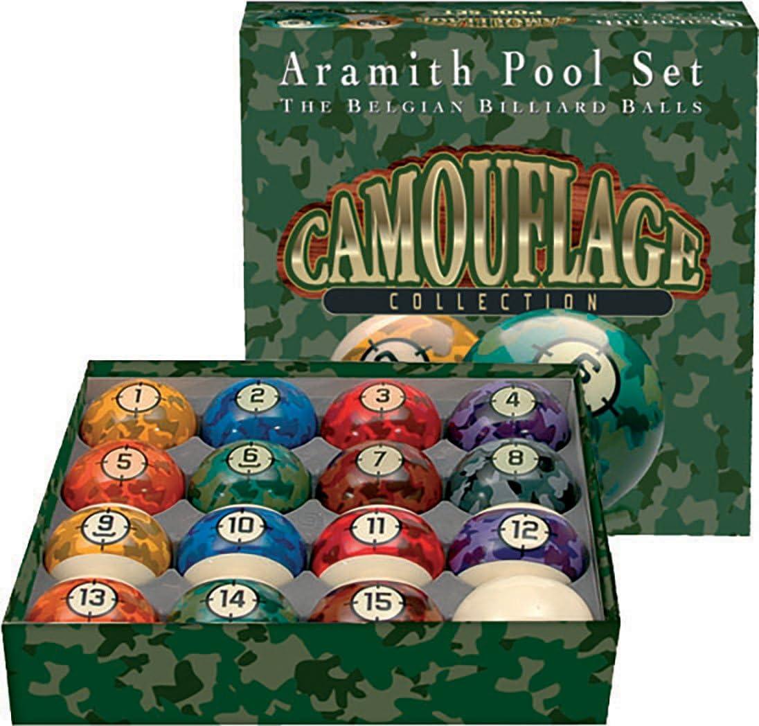 Aramith - Juego de bolas de billar completo (5,7 cm), diseño de ...