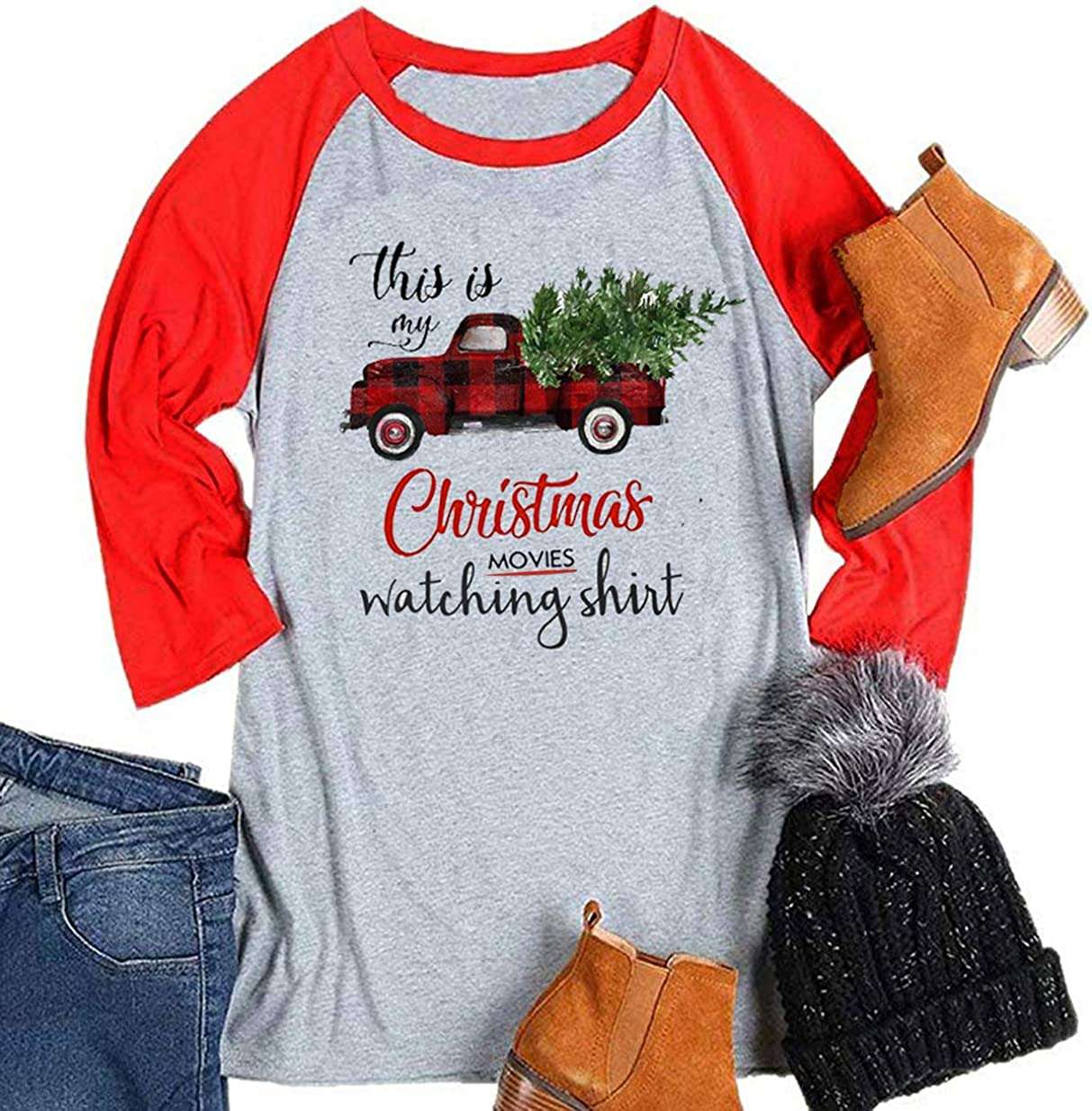 Toy Car and Tree-Toddler Raglan