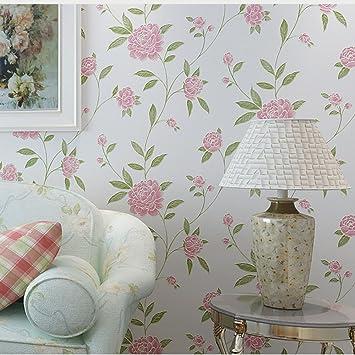 Papier Peint Vintage Fleur Americaine Et Oiseau Vigne Style Papier
